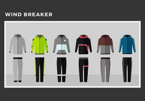 Windbreaker Model Gratis Vector