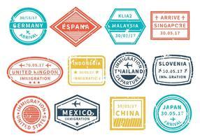 Gratis Reizen Rond Wereldzegel Vector