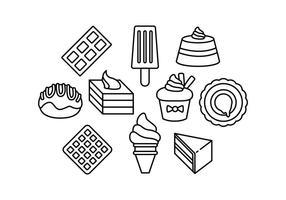 Gratis Zoete Food Line Icon Vector