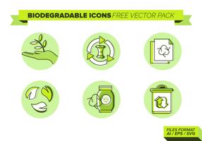 Biologisch afbreekbare iconen Gratis Vector Pack
