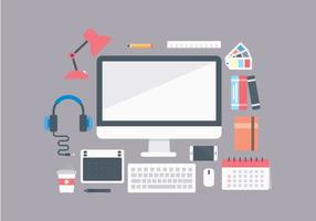 Gratis Office Workplace Items vector