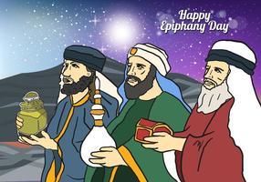 Drie Koningen In De Epifanie Dag vector