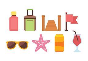 Beach Icon Pack vector