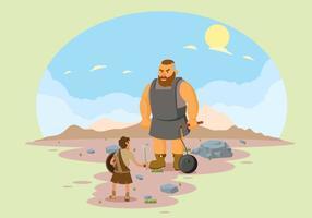 Gratis David en Goliath illustratie vector
