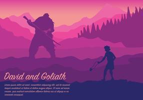 David en Goliath Vector Achtergrond