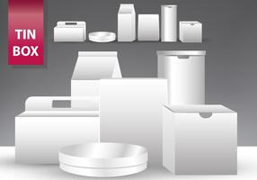 Set Van Tin Box Templates vector