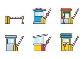 Toll Booth Icon vector