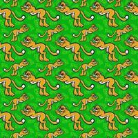 cheetah grote kat patroon vector