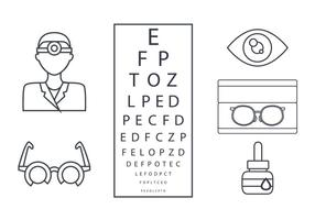 Eye Doctor Outline Vector