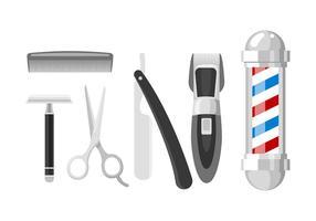 Shaver Set Gratis Vector