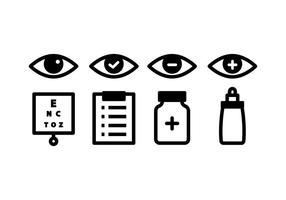 Optometrie Icon Pack vector