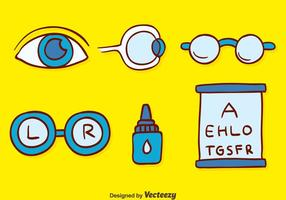 Handgetekende Optische Elementvectoren