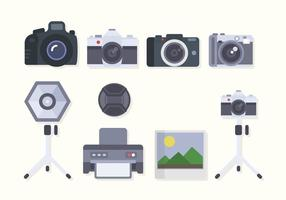 Flat Camera Equipment Vectors