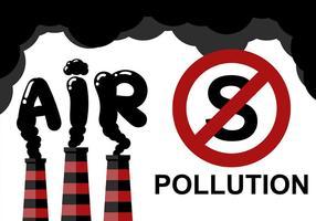 Stop de verontreiniging lucht achtergrond vector