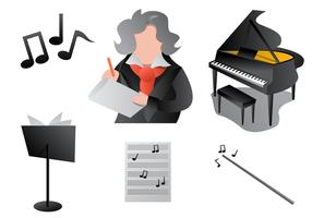 Moderne Stijl Van Beethoven Vectord vector