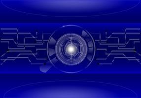 Blauwe Matrix Achtergrond Vector