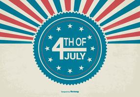 Retro Stijl Onafhankelijkheidsdag Illustratie vector
