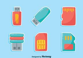 NIce Card Reader Element Icons Vector