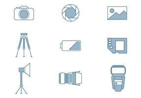 Fotografische Pictogrammen vector