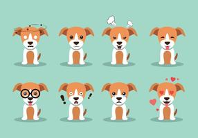 Whippet hond vector
