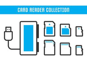 Card Reader Collection vector