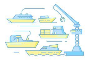 Gratis Unieke Shipyard Vectors
