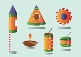 Diwali vuur kraker vector pack