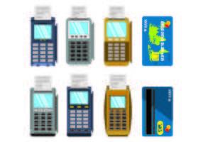 Set van kaartlezervectoren vector