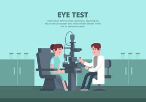 Eye Test Illustratie vector