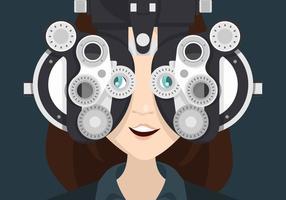 Eye Test Illustratie vector