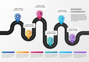 Gratis Roadmap Infographic vector