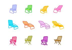 Lawn Chair Icon vector