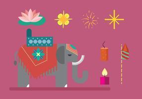 Diwali elementen vector