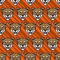 cheetah hoofd patroon vector