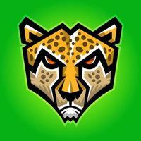 grote cheetah kop vector