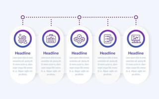 zakelijke infographics, bannerontwerp met lijnpictogrammen