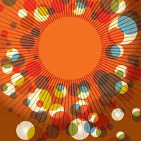 abstracte retro sunburst achtergrond vector