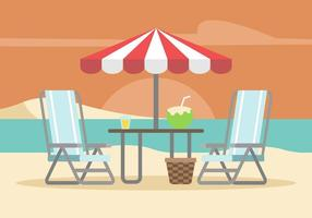 Lawn Chair Illustratie vector