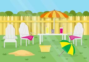 Gratis Summer Garden Party Achtergrond vector