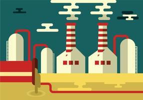 Eenvoudig Fabriekslandschap vector