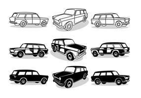 Fiat station wagon vector