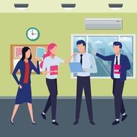 ondernemers en co-working concept vector