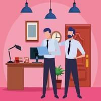 zakenpartners met documenten vector