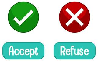 tegengestelde woorden met accepteren en weigeren