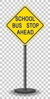 geel verkeerswaarschuwingsbord op transparante achtergrond vector