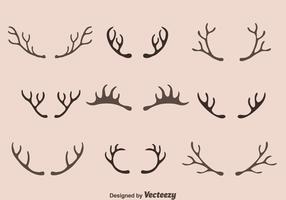 Caribou Horn Collectie Vector