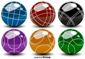 Vector bocce ballen kleur iconen