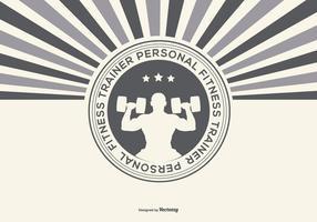 Retro Personal Fitness Trainer Illustratie vector