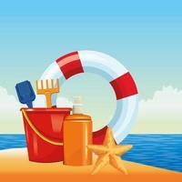 zomer-, strand- en vakantiesamenstelling