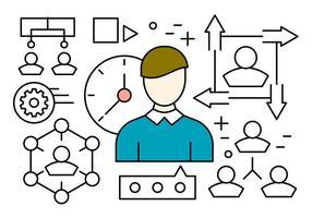 Lineaire Human Resources Vector Elementen